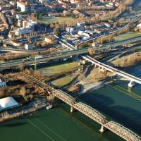 Il fiume Po a Piacenza