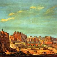 Il castello farnesiano dipinto da Paolo Boselli durante le demolizioni del 1848