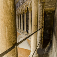 La salita alla cupola affrescata - foto Mario Frusca