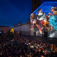 Videomapping sulla facciata del Suomo - foto Mauro Del Papa