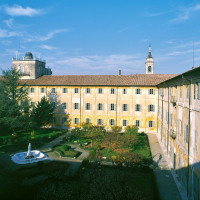 Il giardino interno del Collegio Alberoni