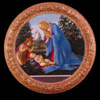 Sandro Botticelli, Madonna adorante il Bambino con san Giovannino, 1475-1480 ca - foto Musei Civici Palazzo Farnese